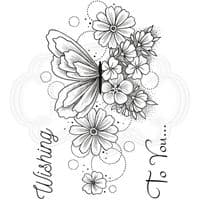 Creative Expressions Designer Boutique Collection A6 Clear Stamp - Butterfly Blooms